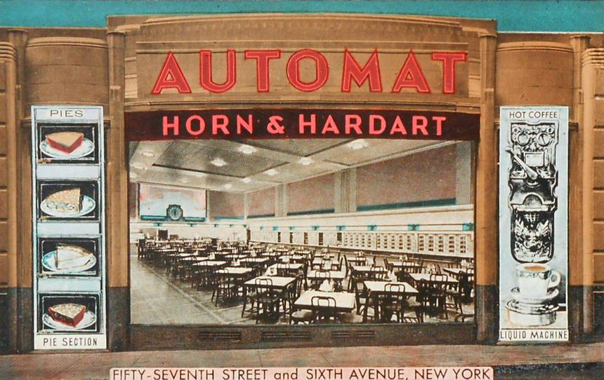 Automat at 1165 Sixth Avenue, New York City, in the 1930s.