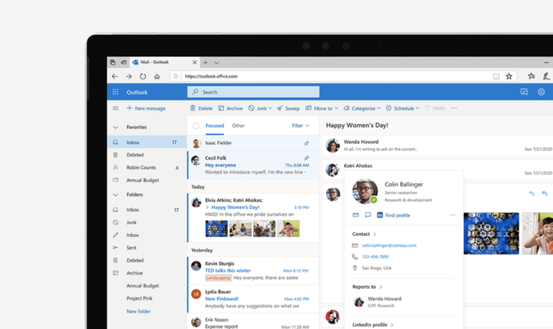 To compete with Gmail, Microsoft reveals plans for new Web-based Outlook features | Ars Technica